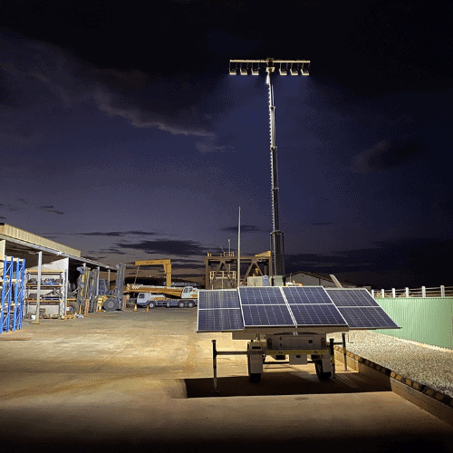 Solar Flare Lighting Tower by Lift Equipt